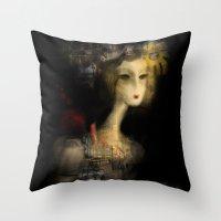 sydney Throw Pillows featuring Sydney by Sona