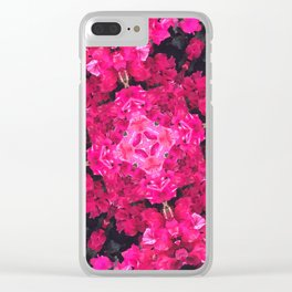 Pink Flower Mesh Clear iPhone Case