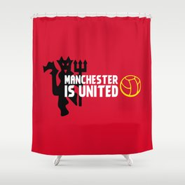 Manchester Is United Shower Curtain