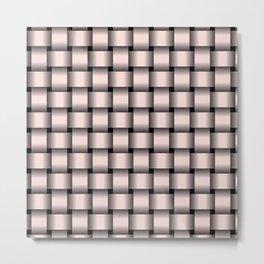 Pastel Pink Weave Metal Print