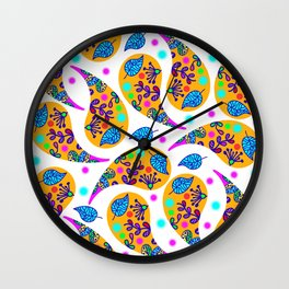 Paisley pattern #2F Wall Clock