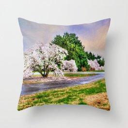 Spring Storms Throw Pillow