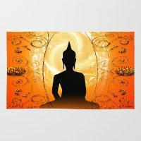 buddha Area & Throw Rugs featuring Buddha  by nicky2342