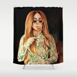mother of monsters Shower Curtain