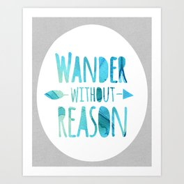 wander without reason in blue Art Print