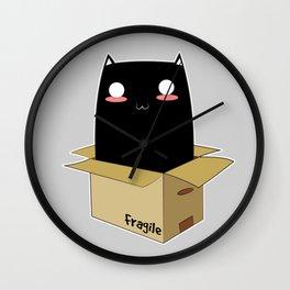 Black Cat in a Box Wall Clock