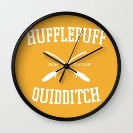 Hogwarts Quidditch Team: Hufflepuff Wall Clock