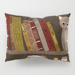 cat bookshelf Pillow Sham