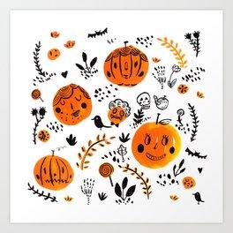 Pumpkinheads 01 Art Print