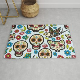 The day of the dead colorful pattern Rug