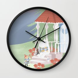 Spring in Moominvalley Wall Clock