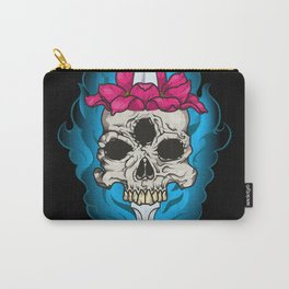 Lotus skull Carry-All Pouch