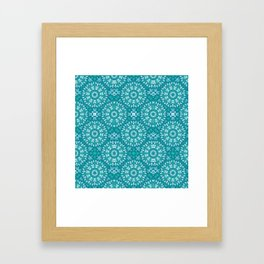 Green circle pattern 3 Framed Art Print