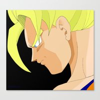 goku Canvas Prints featuring Goku by Cat LaCroix