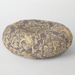 Gold swirls damask #7 Floor Pillow