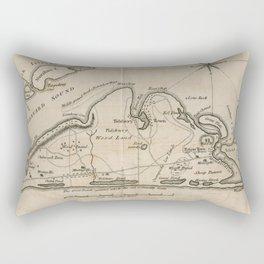 Vintage Map of Martha's Vineyard (1782) Rectangular Pillow