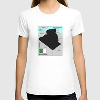 political T-shirts featuring political map of Algeria country with flag by tony tudor