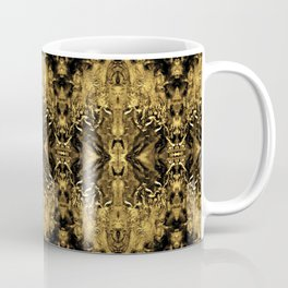 Beautiful Gold Brown  Traditional Pattern Coffee Mug