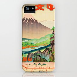 Japanese Rail Travel Poster iPhone Case