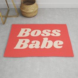 Retro Boss Babe - Coral Rug