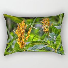 Yellow flower in the rain forest Rectangular Pillow