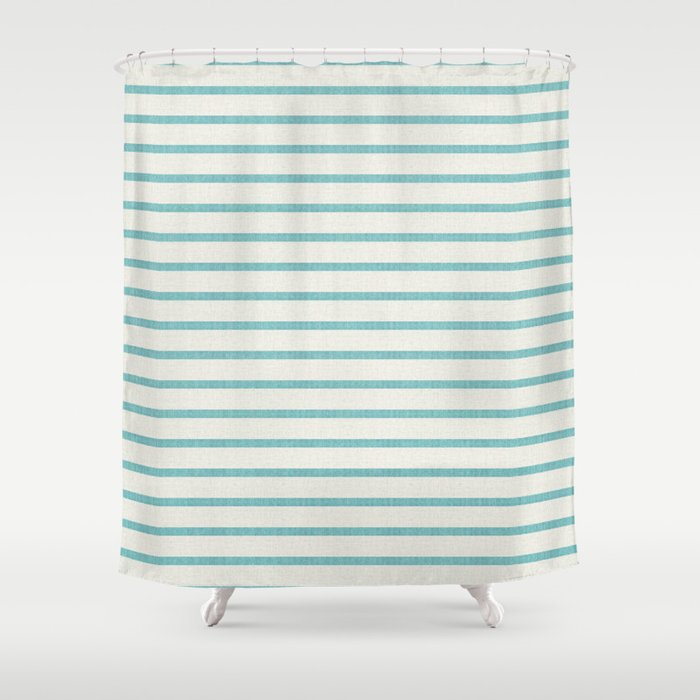 DHURBAN STRIPE AQUA Shower Curtain