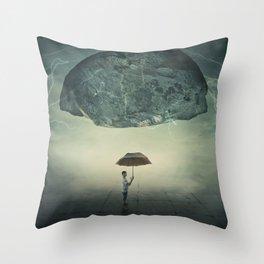 mystic umbrella protection Throw Pillow