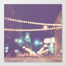 Sparkle No.2. downtown Los Angeles at night photograph Canvas Print