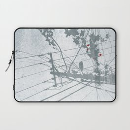 Flowers on the Power Lines Laptop Sleeve