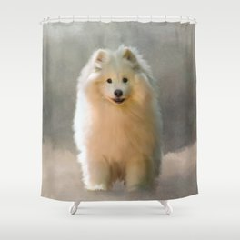More Snow Please Shower Curtain