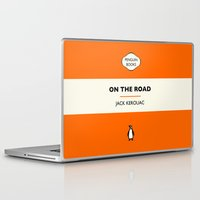 kerouac Laptop & iPad Skins featuring Penguin Book / On The Road - Jack Kerouac  by FunnyFaceArt