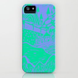 Landscape Purple-Green iPhone Case