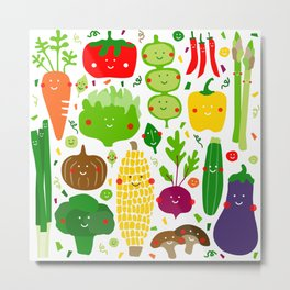 Eat your greens! Metal Print
