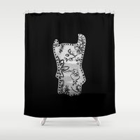 doll Shower Curtains featuring Doll by Probably Plaid