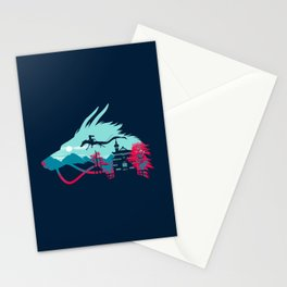 Traveling in Dragon Stationery Cards