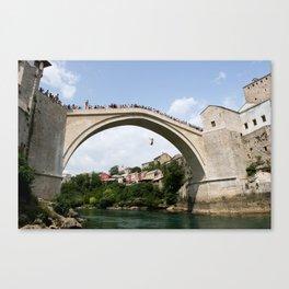 Mostar Bridge Jumper Canvas Print
