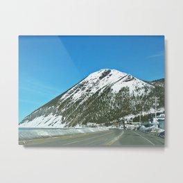 Mont-Saint-Pierre in Winter Metal Print
