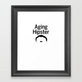 Aging Hipster Framed Art Print
