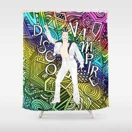 DISCO VAMPIRE HALLOWEEN OUTFIT Shower Curtain