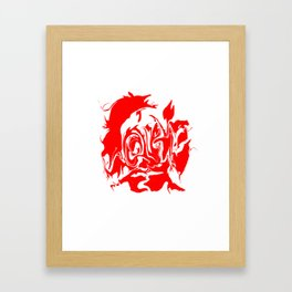face4 red Framed Art Print