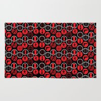 black widow Area & Throw Rugs featuring Black Widow  by Page394