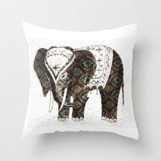 Festive Elephant love Throw Pillow