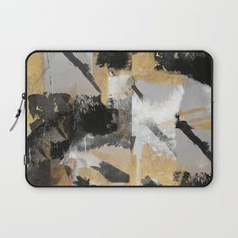 Gold, black abstract,textures Laptop Sleeve