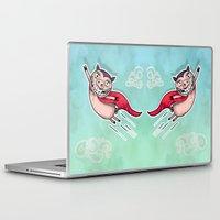 superhero Laptop & iPad Skins featuring Superhero by Aleksandra Jevtovic