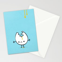 Mr Egg is now sad Stationery Cards