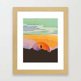 I Like to Watch the Sun Come Up Framed Art Print
