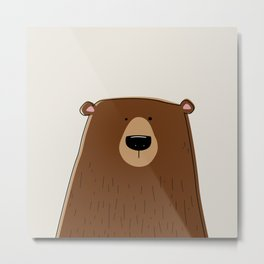Silly Bear Metal Print