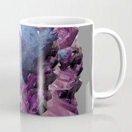 PURPLE AMETHYST WHITE QUARTZ CRYSTALS Coffee Mug