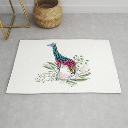 Happy Spring Giraffe Rug