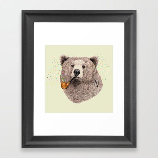 Sailor Bear Framed Art Print